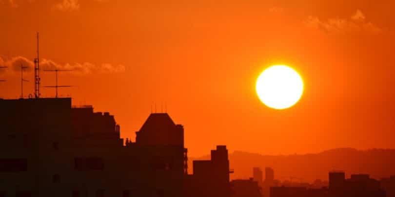 posição do sol